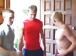 Young Blond and Buddies Having Fun