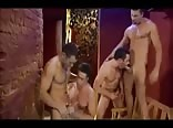 Four guys getting off