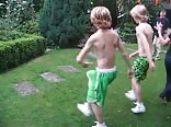 blond teen boy shirtless dance