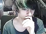 boy emo very effeminate and smooth masturbates on the web