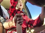 Friend jerk in car  – more @ Gayboy.ca