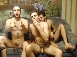 3 Horny Russian Friends Go Gay 1stTime On Cam