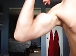 Skinny Teen flexes Peaked Bicep