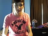 Young and smooth American eagle with a radiant smile