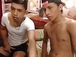Hot latino couple wank and suck on the webcam