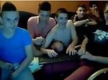 Boys group webcam wank