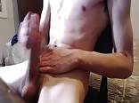 Tall Very Hung Lean Teen Wanks and Shoots Semen