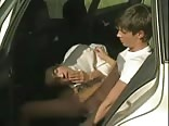 hot blonde in/on car