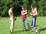 Naked Lad Hazing the Dressed