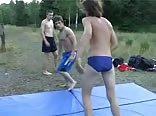 Outdoor wrestling Boys