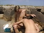 Horny boys suck at the beach 480p