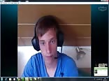 twink masturbates through skype