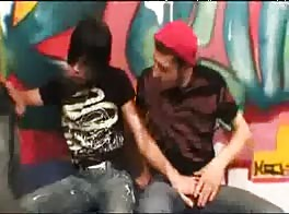 emo fucked by two