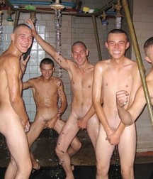 guys have fun in the common shower