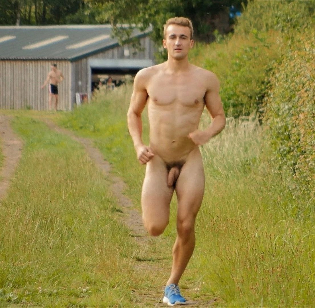 Outdoor guys naked