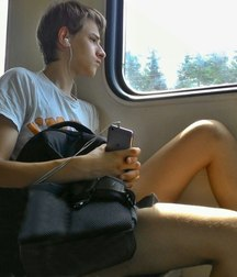 I love traveling by train