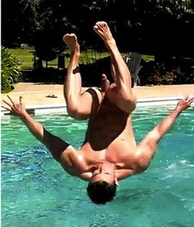 straight boys dive naked