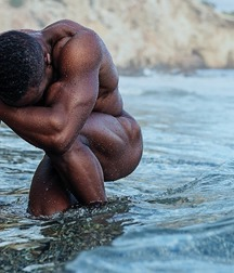 naked in the water