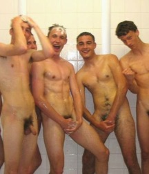 straight guys in the shower