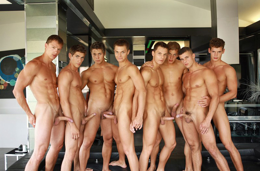 Groups of male nudes