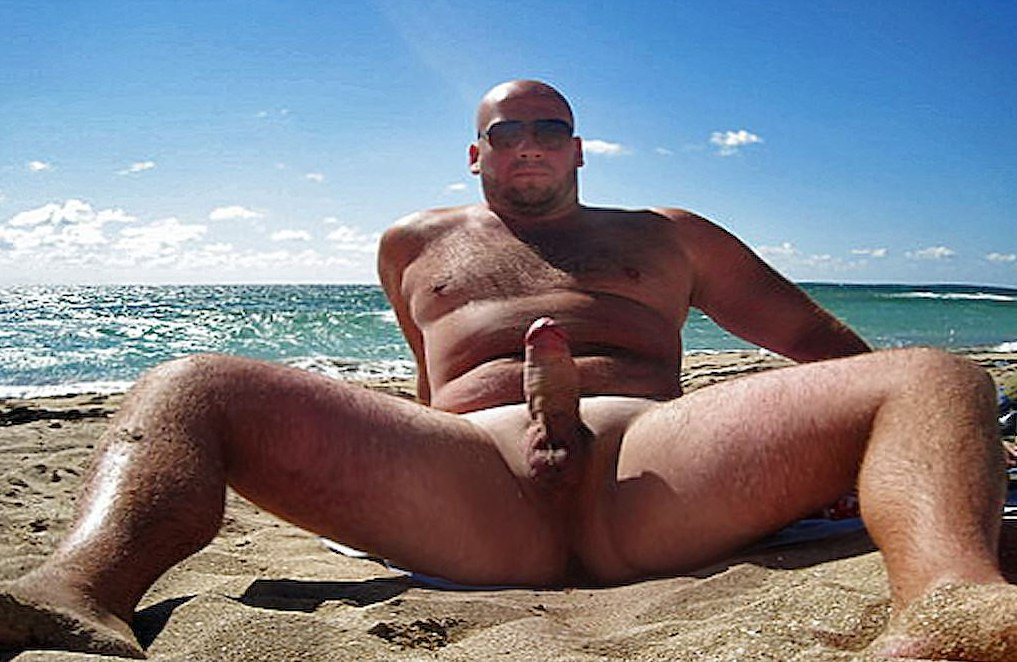 Very big dick nude in beach