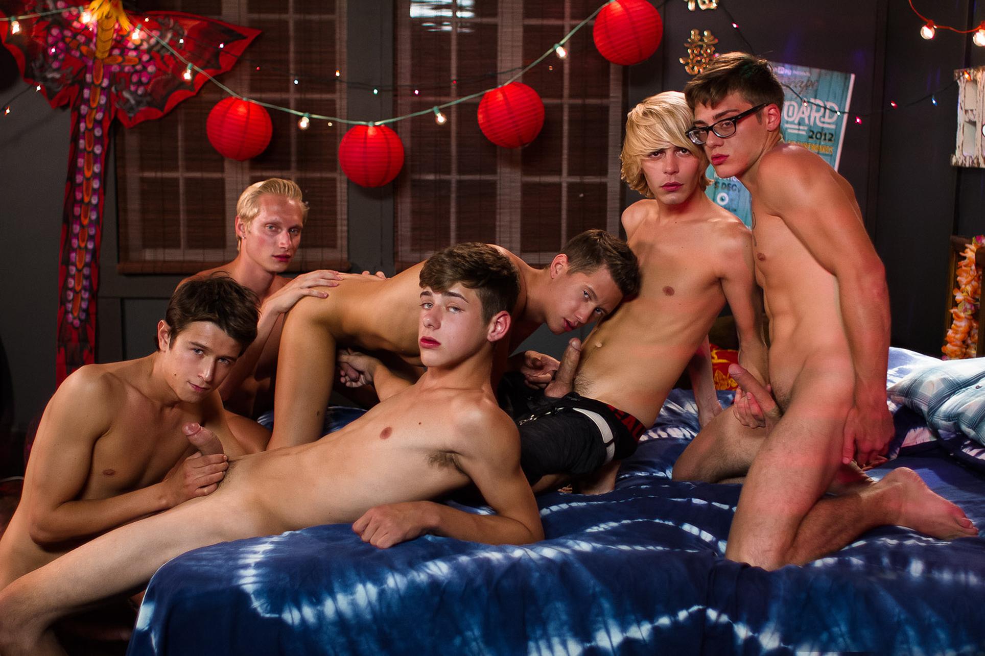 Dominican boys in outdoor sex orgy