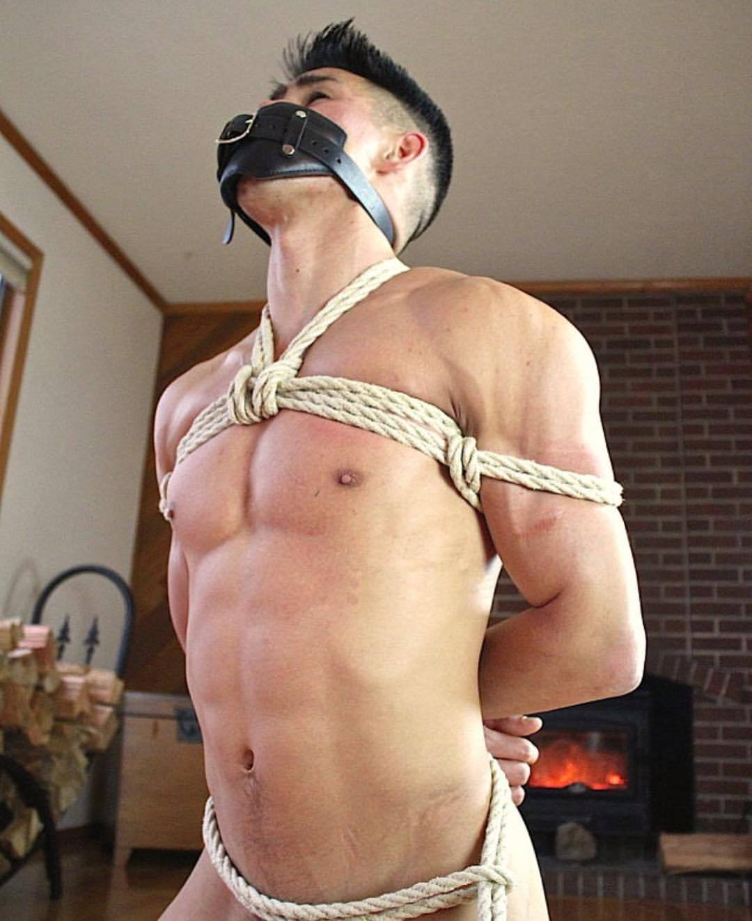 Viktoria diamond is tied up fully nude and oiled