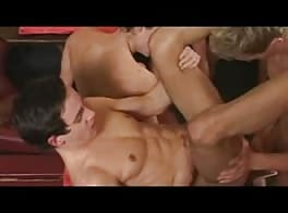 Twinks breeding orgy