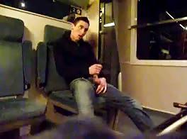 Hot Boy Wanking On Train
