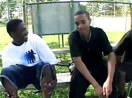 three black boys fool around