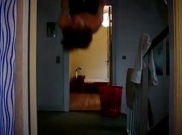 Tea-kun jerks off upside-down!