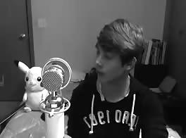 Cute Boy Singing!