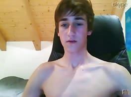 German boy cums