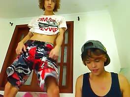two smoothie latino boy wank on webcam 2