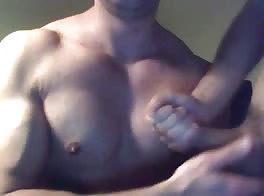 he cums on his chest