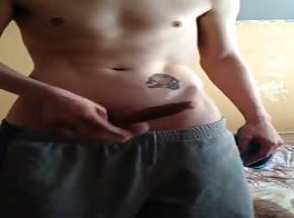 masturbates and shows her cum