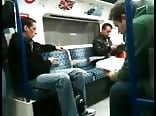 Insane caught jerking on the train