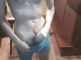 Young twink piss wank