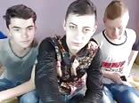 3 Str8 Romanian Boys Go Gay, He Cums On His Friends Face