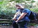 buddy jacks off in woods