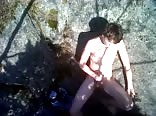 In the woods jerking off