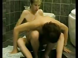 Teen bathroom fuck