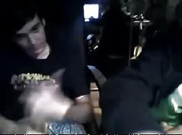 two guys wanking
