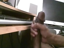 Big black dick jerk