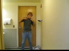 jerking in public restroom
