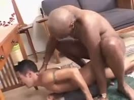 White Twink gettin boned by a Black Daddy