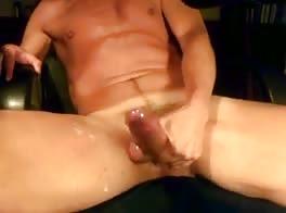 cum on my thigh