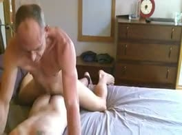 Daddy pounds a twink ass...deep and hard