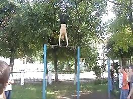 Ukraine School Yard Gymnatics