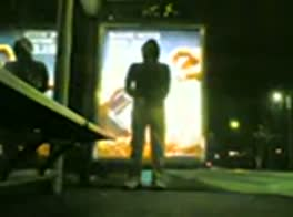 scally wank in bus shelter